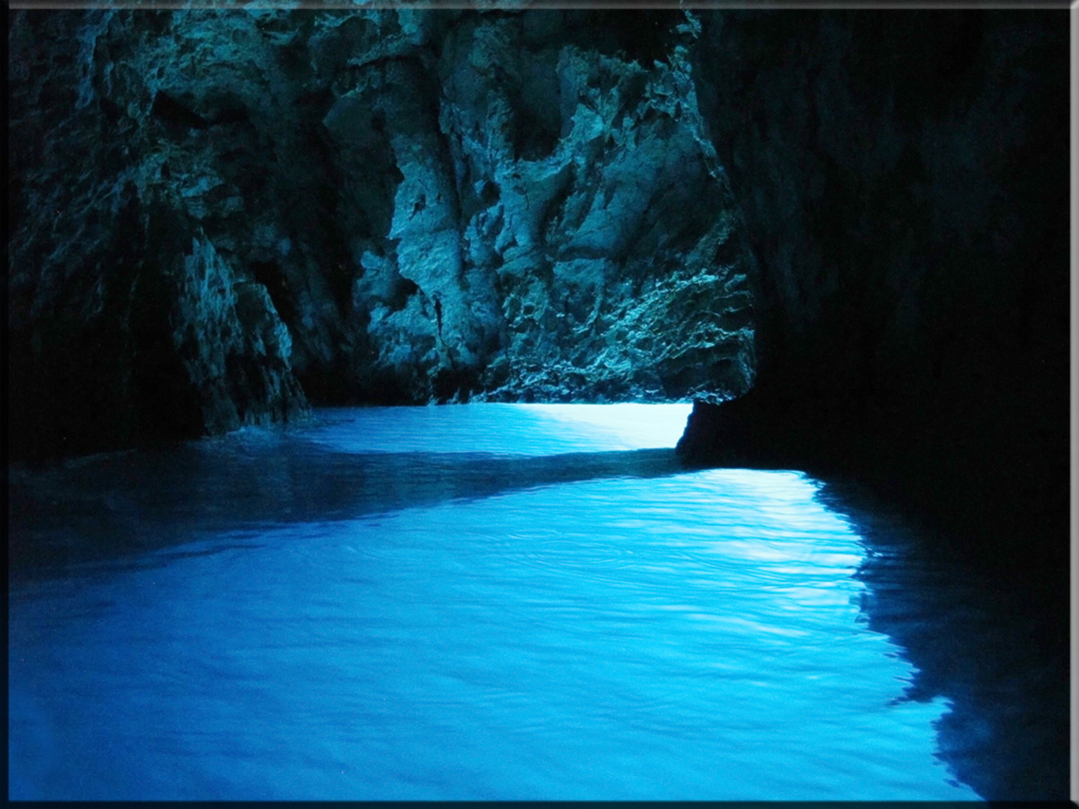 The light in the Blue Cave Croatia