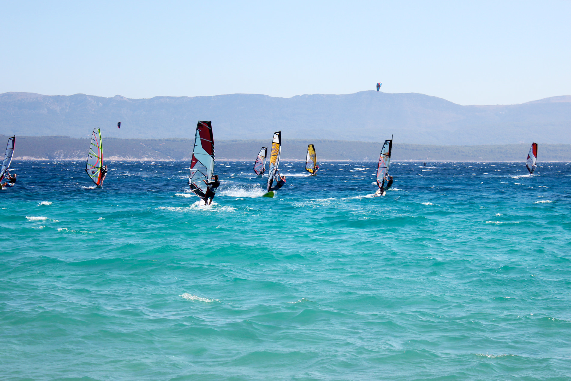 Windsurfing at Golden Horn Beach Croatia